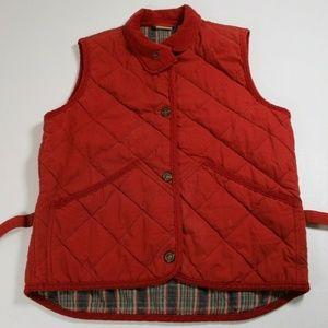 Woolrich Vintage Women Sz M Crimson Red Quilted Ve